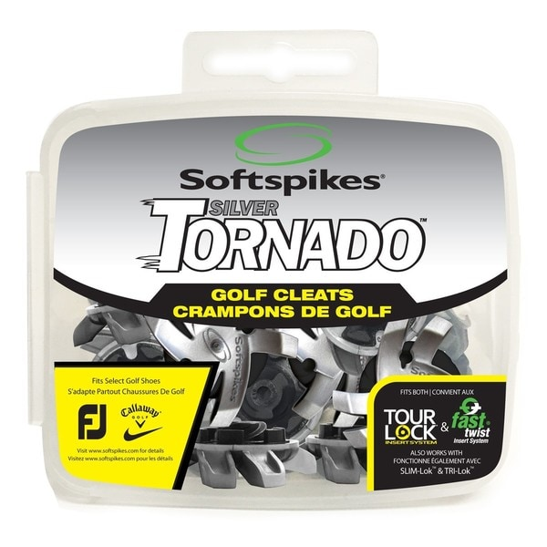 Softspikes Silver Tornado Plastic Tour Lock Golf Cleats