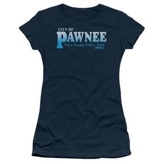 Parks & Rec/Pawnee Junior Sheer in Navy