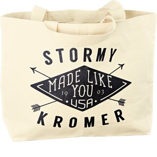 Stormy Kromer Graphic Off-white/Black Cotton Tote Bag