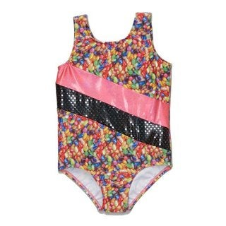 Girl Power Sport Girl's Sugar Rush Pink Nylon Leotard