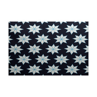Christmas Stars 1 Geometric Print Indoor/ Outdoor Rug (5' x 7')
