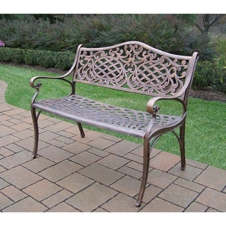 Explorer Cast Powder Coated Finish Aluminum Settee Bench
