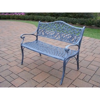 Explorer Solid-colored Cast Aluminum Settee Bench