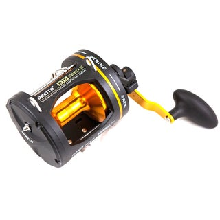 Omoto Deluxe T30L-II GTR Black, Gold Aluminum, Stainless Steel 2-Speed Graphite Reel