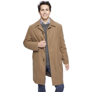 London Fog Men's Single Breasted Rain Coat With Zip-out Body And Sleeve Lining