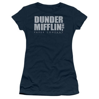The Office/Dunder Mifflin Distressed Junior Sheer in Navy