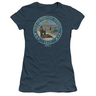 Parks & Rec/Distressed Pawnee Seal Junior Sheer in Indigo