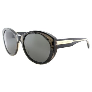 Victoria Beckham VBS 113 C18 Upswept Oval Tobacco Pointillist Plastic Cat-Eye Grey Zeiss Lens Sunglasses