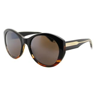 Victoria Beckham VBS 113 C17 Upswept Oval Black Tort Graduated Plastic Cat-Eye Black Mirror Zeiss Lens Sunglasses