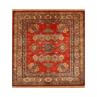 Hand Knotted Finely Woven Square Rug (5' x 5')