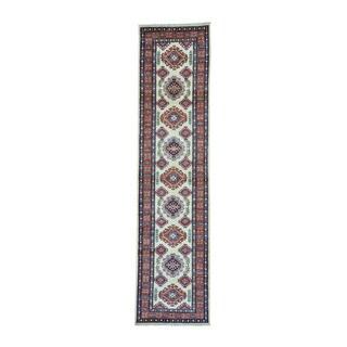 Super Kazak Multi-color Wool Tribal Design Runner Rug