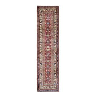 Super Kazak Tribal Design Hand-knotted Runner Rug (2'7 x 10')