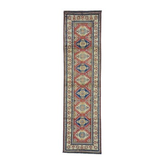 Kazak Hand-knotted Red Pure Wool Runner Rug (2'8 x 10'3)