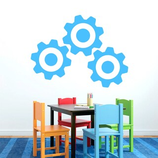 Large Set of Gears Vinyl Wall Decals