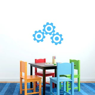Medium Set of Gears Vinyl Wall Decals