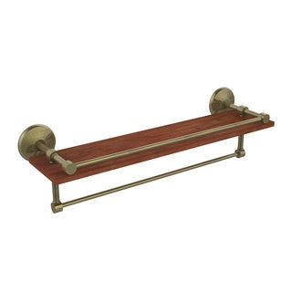 Allied Brass Monte Carlo Collection Clear IPE Ironwood 22-inch Shelf with Gallery Rail and Towel Bar