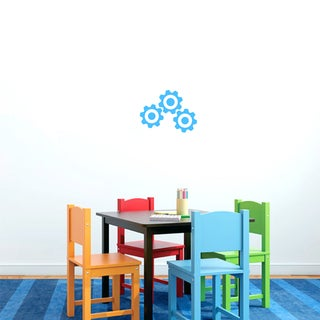 Small Set of Gears Vinyl Wall Decals