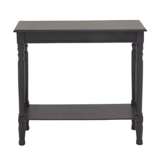 Black Polished Wood Console Table