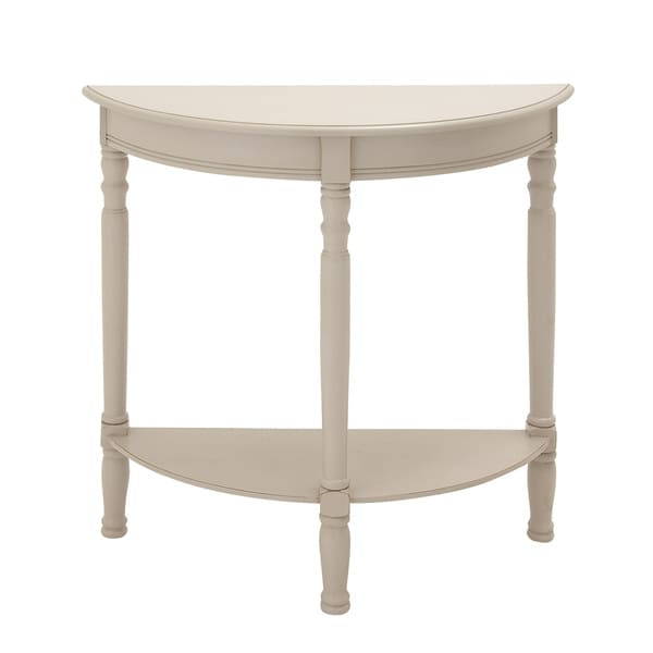 white wood half moon console table free shipping today 18818579. Black Bedroom Furniture Sets. Home Design Ideas