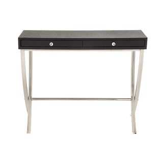 Black Stainless-steel Wood Vinyl Console Table