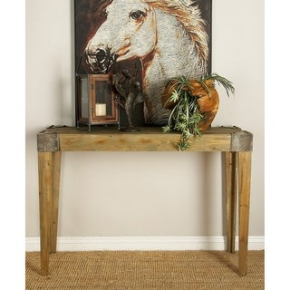 Bare Wood Console Table