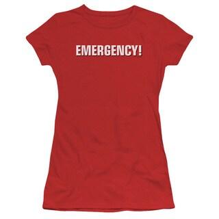 Emergency/Logo Junior Sheer in Red