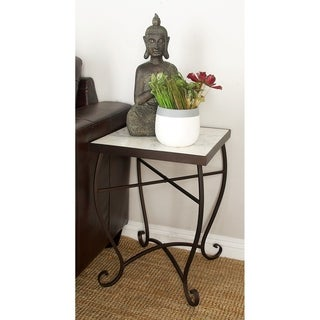 Metal Marble Square Side Table
