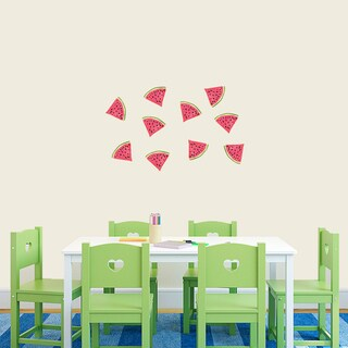Set of 10 Watermelon Vinyl Wall Decals