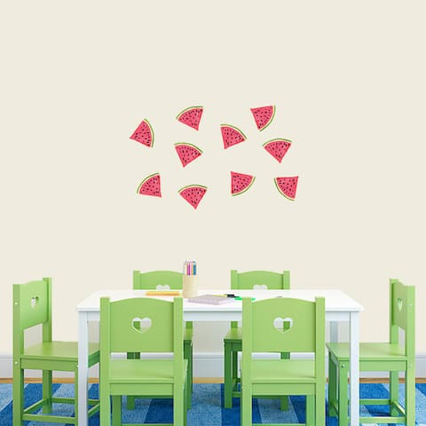 Set of 10 Watermelon Vinyl Wall Decals