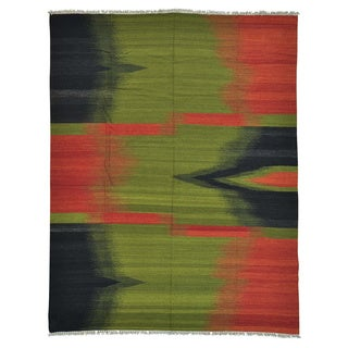 Durie Kilim Multicolored Pure Wool Hand-woven Rug (8' x 10'4)