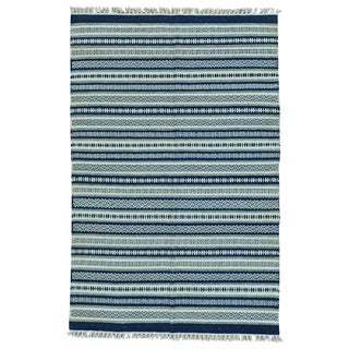 Durie Kilim Striped Pure Wool Hand-woven Flat-weave Rug (4' x 6')