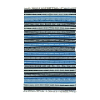 Handwoven Striped Flatweave Kilim Wool Rug (3'10 x 6'1)