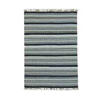 Handwoven Reversible Flatweave Kilim Wool Rug - Multi
