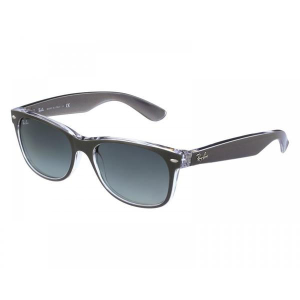 0529c032301 Ray-Ban RB2132 614371 New Wayfarer Color Mix Gunmetal Transparent Frame  Grey Gradient 52mm