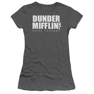 The Office/Dunder Mifflin Logo Junior Sheer in Charcoal