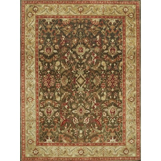 Hand Tufted Dark Green/Multi Oriental Area Rug (12' x 15')