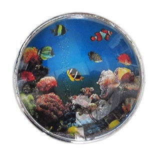 Fish in Ocean Glass Drawer/ Door/ Cabinet Pull Knob (Pack of 6)