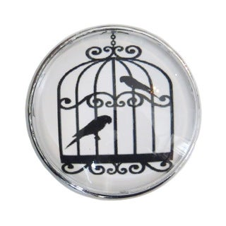 Birdcage Glass Drawer/ Door/ Cabinet Pull Knob (Pack of 6)