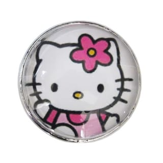 Hello Kitty Glass Drawer/ Door/ Cabinet Pull Knob (Pack of 6)