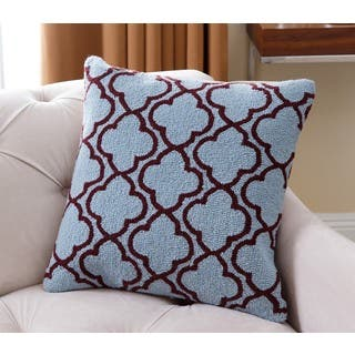 Abbyson Mia Lattice Blue New Zealand Wool 20-inch x 20-inch Polyester-filled Throw Pillow|https://ak1.ostkcdn.com/images/products/11929379/P18818785.jpg?impolicy=medium