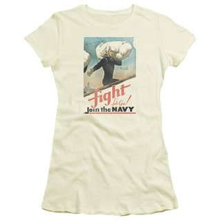 Navy/Fight Let's Go Junior Sheer in Cream