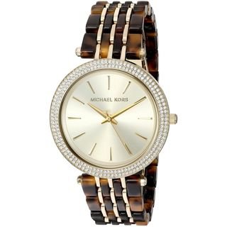 Michael Kors Women's MK4326 'Darci' Crystal Gold-Tone and Tortoise Stainless steel and Acetate Watch