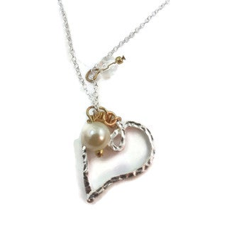 Mama Designs Handmade Wire Wrapped Heart Necklace