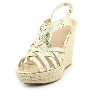 Fergalicious Women's Caprinni Gold Synthetic Sandals