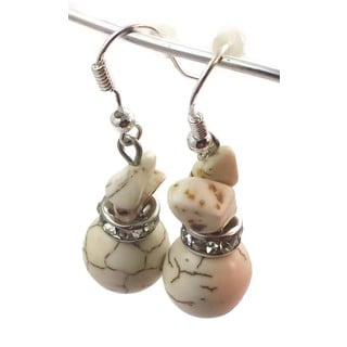 Mama Designs Handmade Sterling Silver Drop Style Beaded Earrings