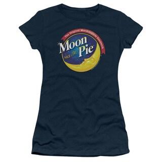 Moon Pie/Current Logo Junior Sheer in Navy