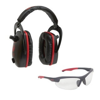 Allen Ruger Conix Black/Red Ballistic Muff and Glasses Combo