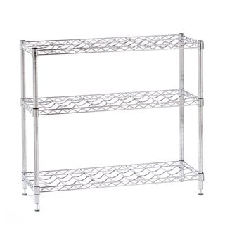 Seville Classics NSF Listed 72-bottle 3-shelf Stackable Wine Rack