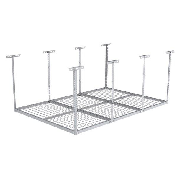 4x6 heavy duty overhead garage adjustable ceiling storage rack 72 length x