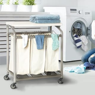 Seville Classics 3-bag Laundry Sorter with Folding Table|https://ak1.ostkcdn.com/images/products/11929659/P18819158.jpg?impolicy=medium